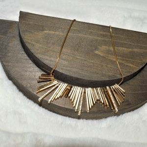 Gold Vertical Bars Necklace